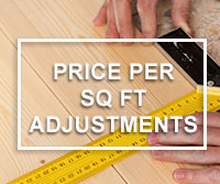 price per square foot adjustment