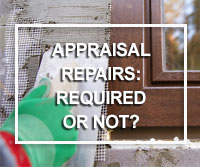 required home repairs from appraisal